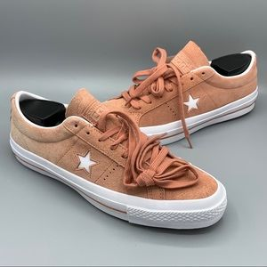 NEW Womens Converse One Star Suede OX Pink Shoes